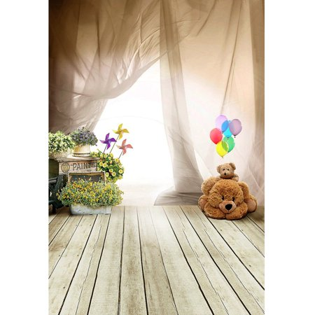 5x7FT Photography Vinyl Fabric Background Backdrop Photo Studio Props Baby Bear Kids Floor Wall Window - Photography Props For Sale Cheap