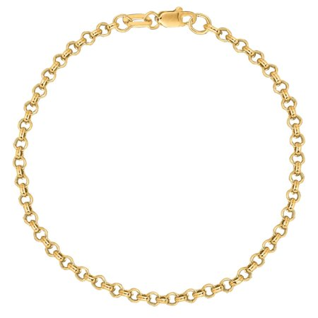 10k Yellow Gold Rolo Foot Ankle Chain Anklet, Bracelet, or Chain Necklace 2.3mm