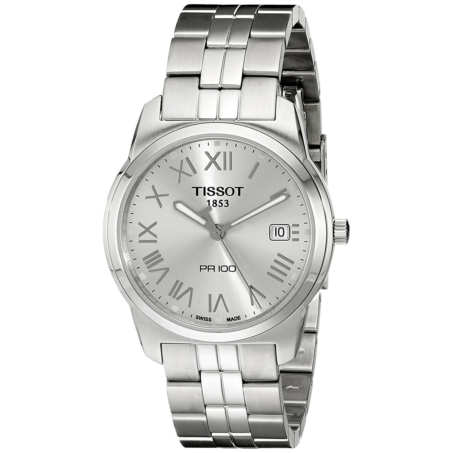 Tissot Men's 38mm Steel Bracelet & Case S. Sapphire Swiss...