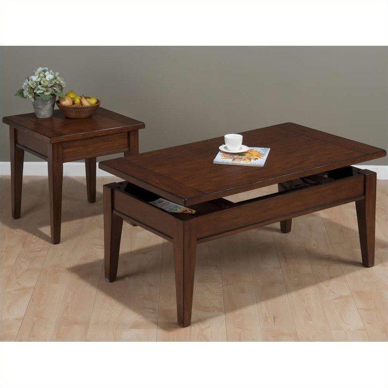 Jofran 2 Piece Occasional Table Set in Dunbar Oak by Jofran