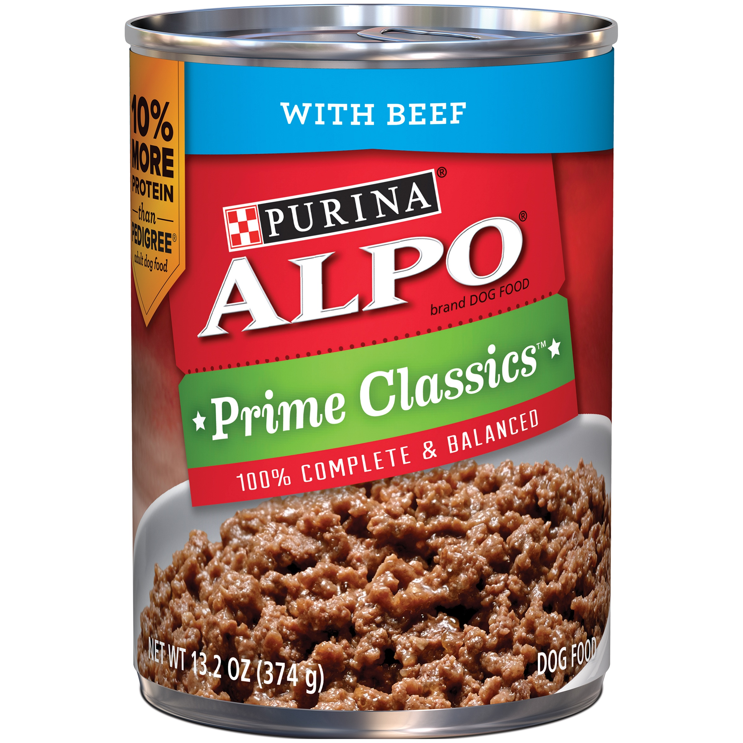 Purina ALPO Prime Classics with Beef Wet Dog Food, 13.2 Oz.