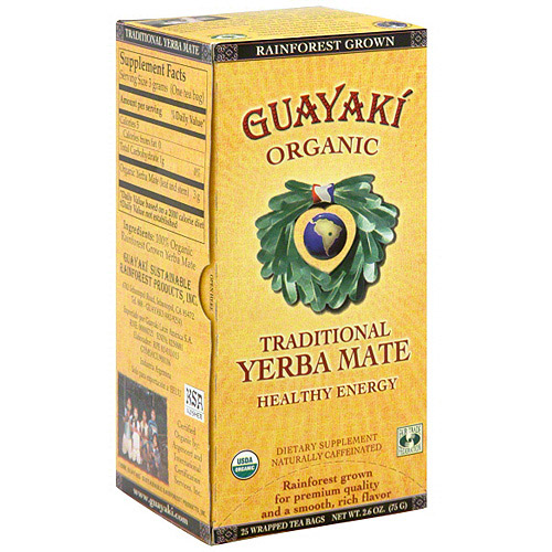 Guayaki Organic Yerba Mate Tea, 2.6 oz (Pack of 6)