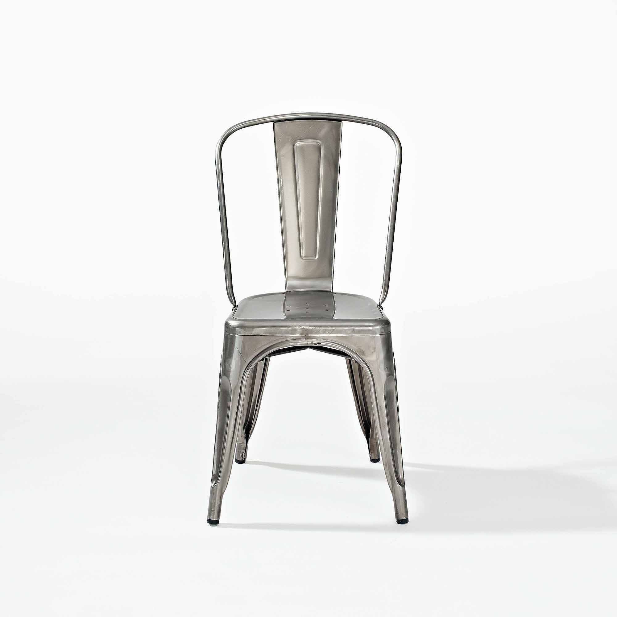 Superbe Crosley Furniture Amelia Metal Cafe Chair In Galvanized, 2pk   Walmart.com