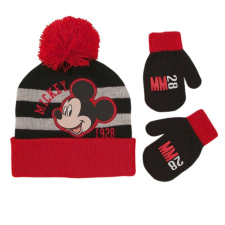 Disney Mickey Mouse Hat and Mittens Cold Weather Set, Toddler Boys, Age - Disney Woody Hat