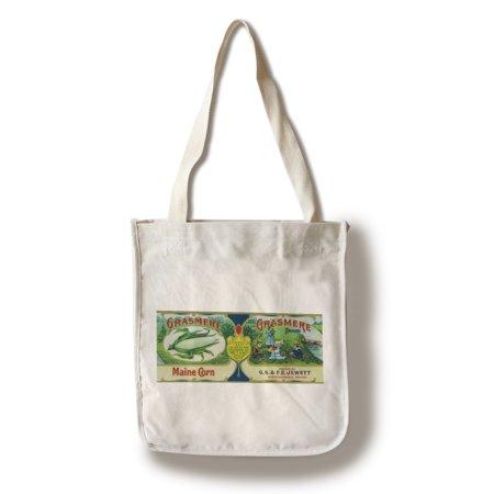 Grasmere Corn Label  100  Cotton Tote Bag   Reusable