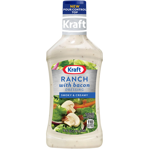 Kraft Salad Dressing: Dressing & Dip Ranch w/Bacon, 16 Oz