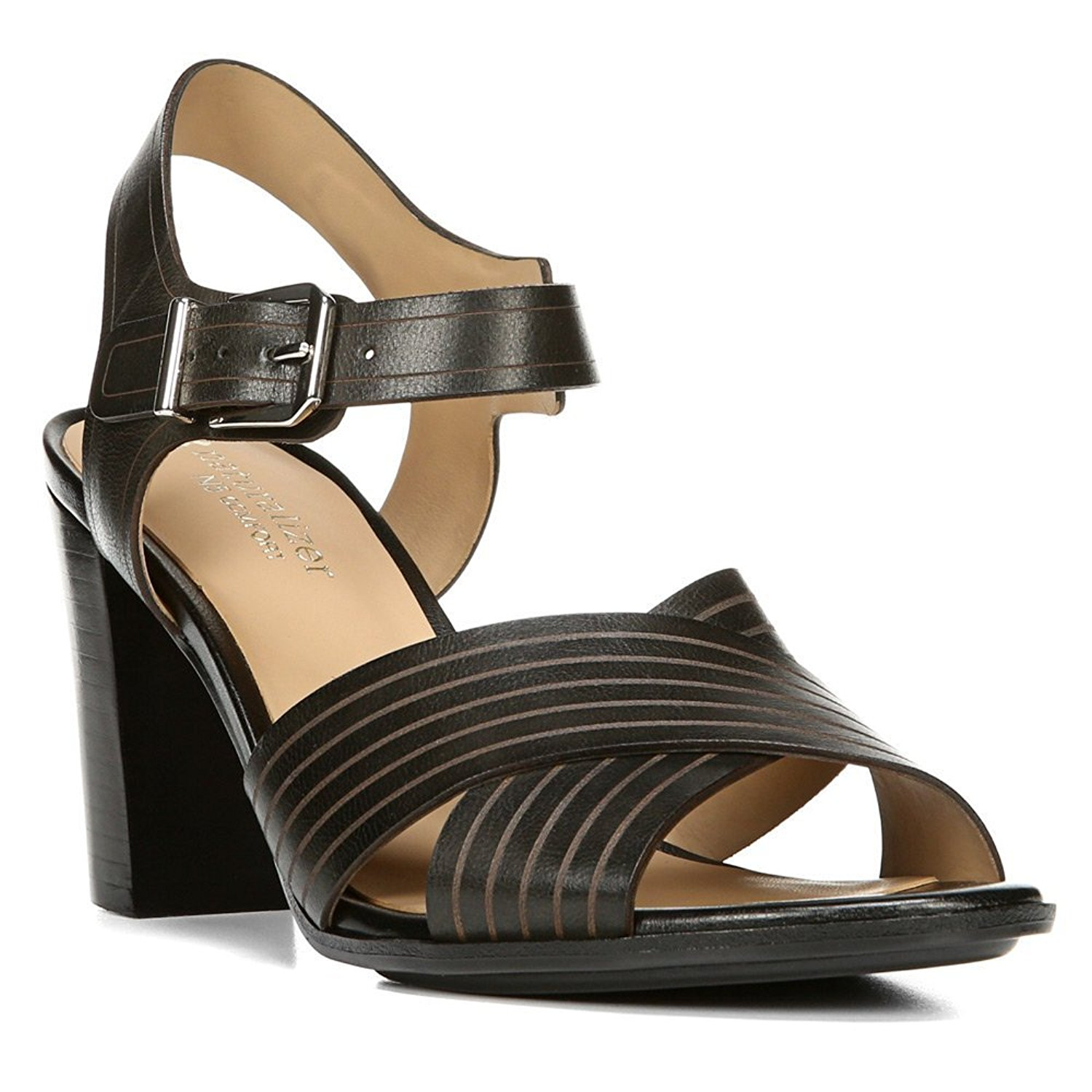 Naturalizer Womens Delanie Leather Open Toe Casual Ankle Strap Sandals by Naturalizer