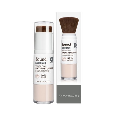 FOUND PORE CARE White Clay Mattifying Powder, 0.13 fl