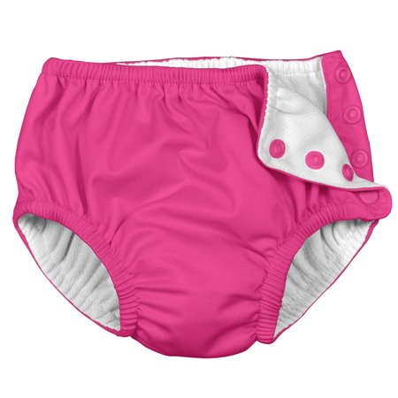 i play Unisex Reusable Absorbent Baby Swim Diapers - Swimming Suit Bottom | No Other Diaper Necessary Hot Pink 3T