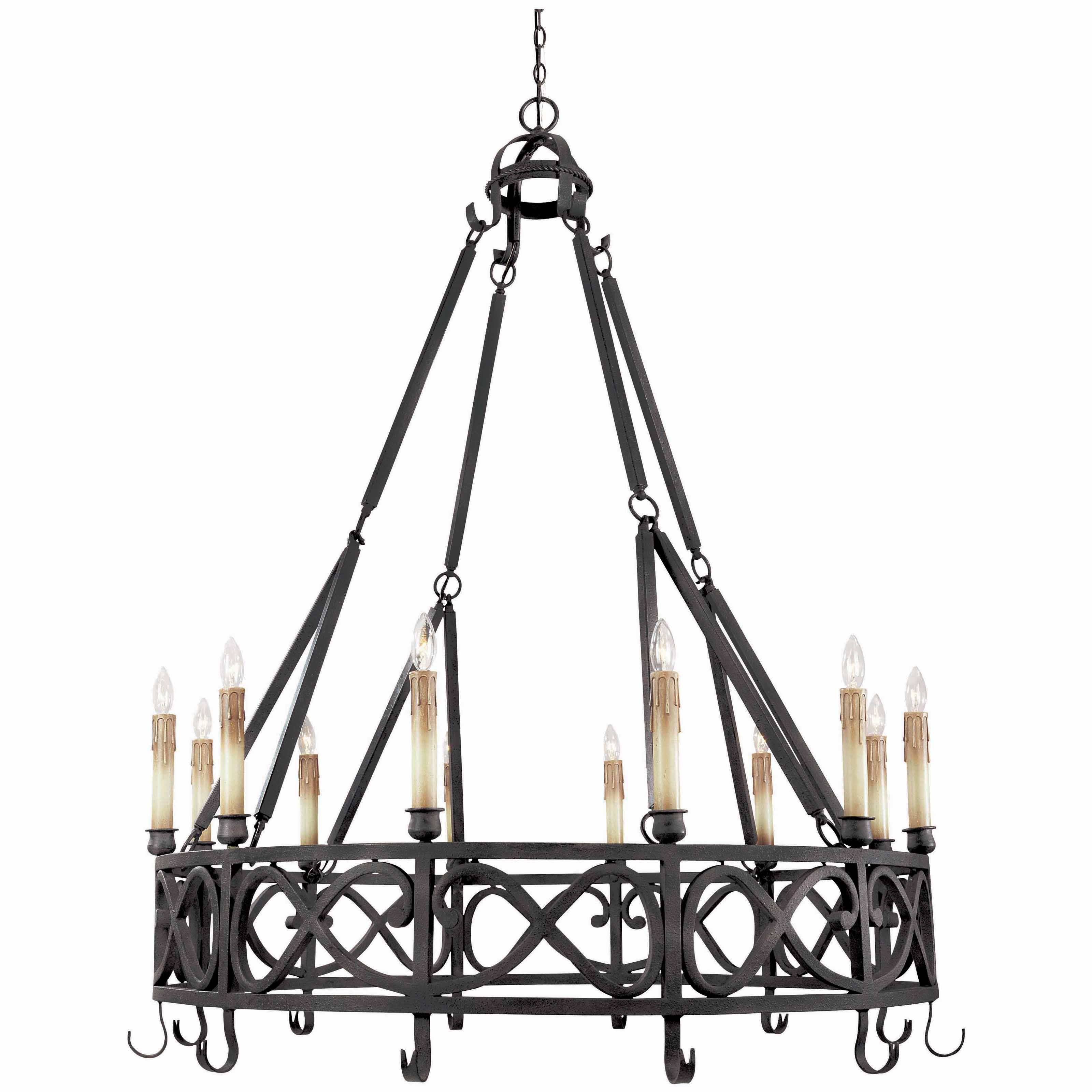 World Imports Chaumont Chandelier - 48.5W in. Textured Rust