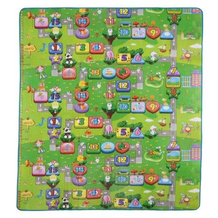 Baby Kids Toddler Crawl Car and Monopoly Game  Mat Carpet Picnic 79*71 inch (Crawl Mat)