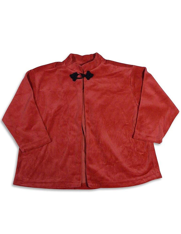 Mulberribush - Little Girls Long Sleeve Velour Swing Jacket Olive Green / 4