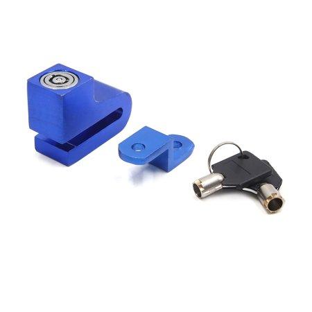 Disc Brake Center Lock Rotor (Blue Motorcycle Security Anti-thief  Disc Brake Rotor Lock w 2 Keys)