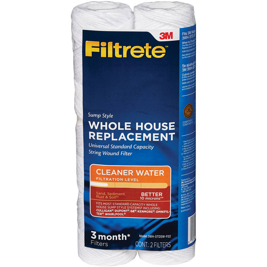 Whole House Water Sediment Filter Filtrete Standard Capacity Grooved Replacement Filter Sump
