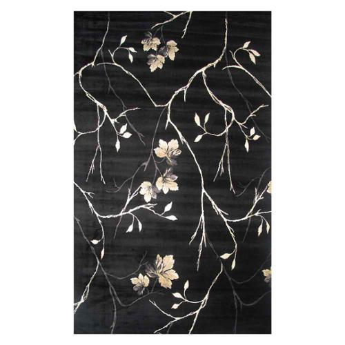 LA RUG Artifacts Branches-Color:Black,Size:8' x 11'