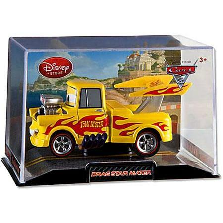 Disney Cars 1:43 Collectors Case Drag Star Mater Diecast Car (Diecast Case Backhoe)
