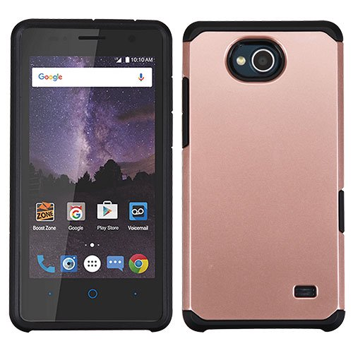 best website 1e5ec f1437 ZTE Tempo N9131, ZTE Majesty Pro LTE Z799VL, ZTE Majesty Pro Plus Phone  Case Shockproof Hybrid Rubber Rugged Case Cover Slim ROSE GOLD