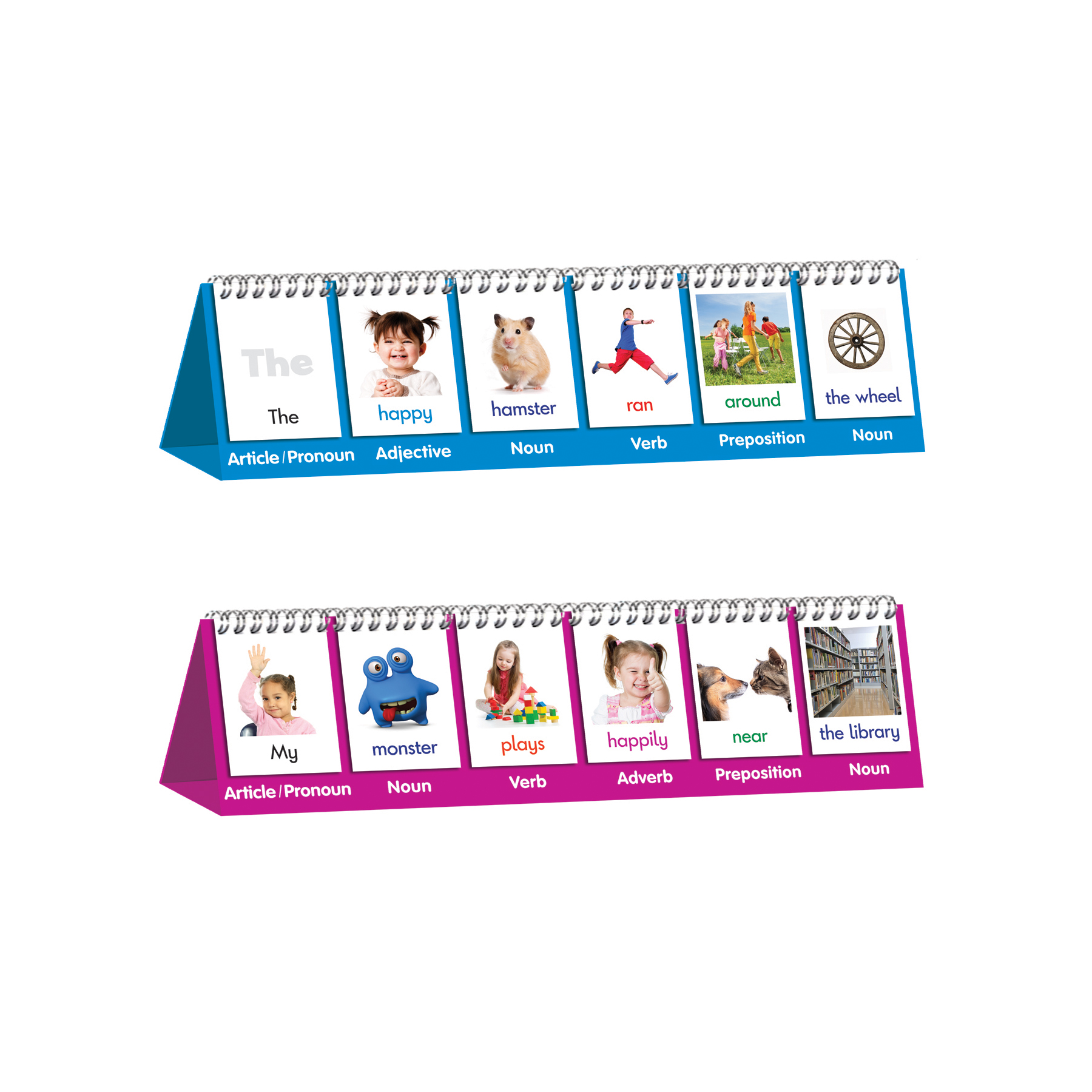 Junior Learning - Parts of Speech Flip Cards - Educational Learning Set