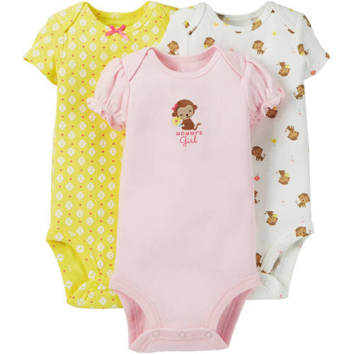Child Of Mine By Carter's Newborn Baby Girl Bodysuit, 3 Pack