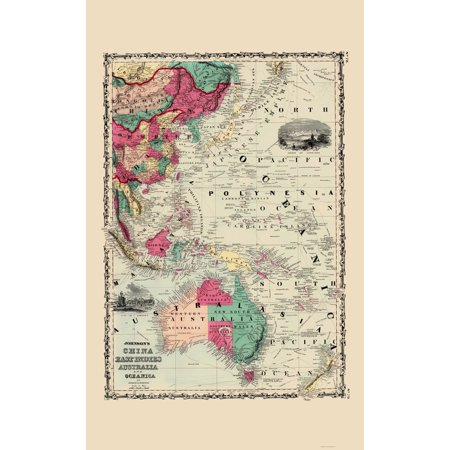 Old world maps map china east indies australia oceanica old world maps map china east indies australia oceanica johnson 1860 gumiabroncs Gallery