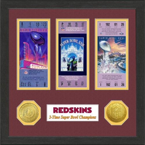 NFL Framed Wall Art by The Highland Mint, Washington Redskins - Super Bowl Championship Ticket