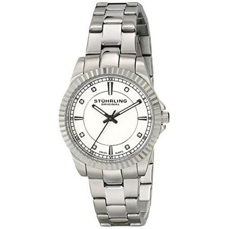 Women's 408LL.01 Symphony Swiss Quartz Swarovski Crystal-Accented Silver Dial Watch (Women Stuhrling Watches)