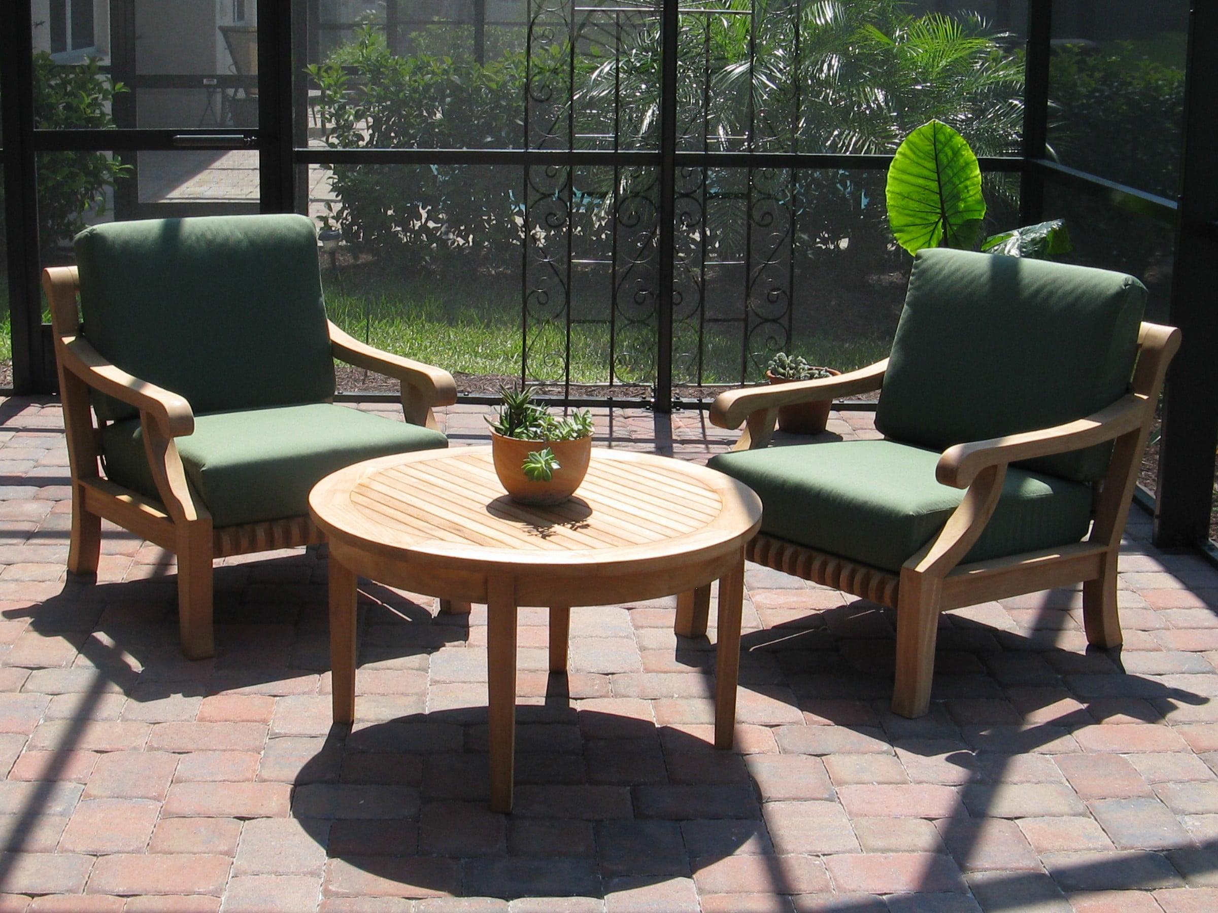 Grade A Teak Wood Sofa Set 3pc 2 Seater Teak Sofa Lounge Chair Set 2 Lounge Chairs 1 Sack Round Coffee Table Furniture Only Giva Collection Wmssgv7 Walmart Com Walmart Com