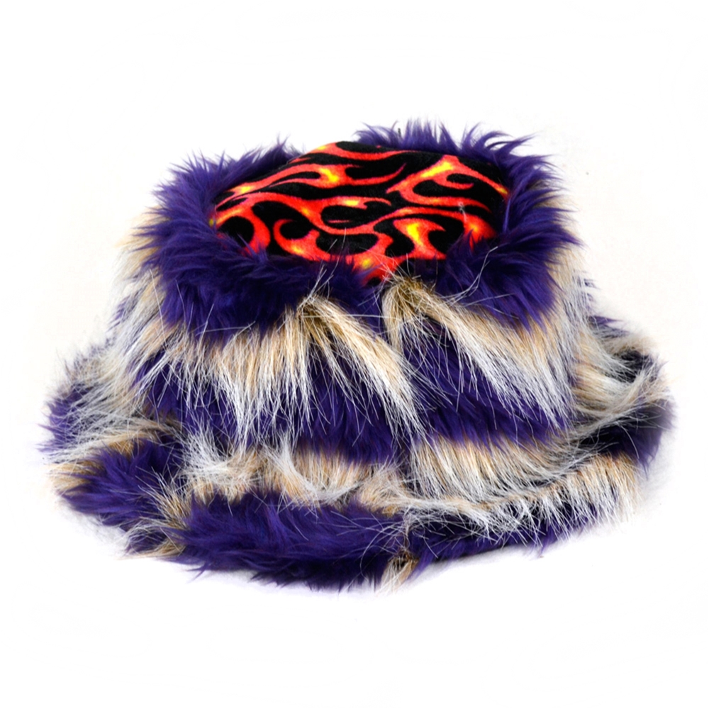Furry Animal Print Hat