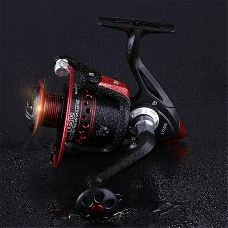 Ultra Smooth 13BB Spinning Reel Metal Spool Folding Arm Saltwater Fishing Reel Model:Type 2000 (400 Spool)
