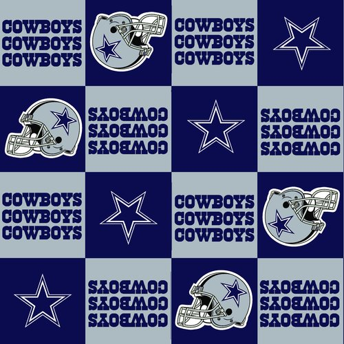 NFL Dallas Cowboys Fleece Fabric - Walmart.com