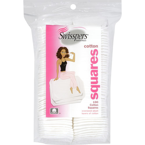 Swisspers Cotton Squares, 100 count