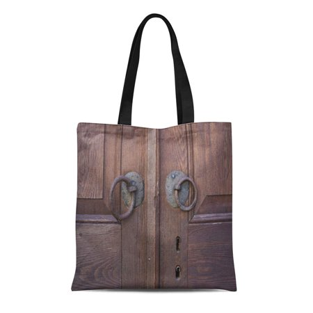 Ashleigh Canvas Tote Bag Distressed Old Wooden Door Detail