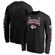 Kansas City Chiefs NFL Pro Line by Fanatics Branded 2019 AFC Champions End Around 2-Hit Long Sleeve T-Shirt - Black