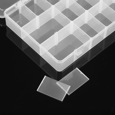 Adjustable Dividers Transparent 18 Compartment Slot Storage Box Organizer Jewelry Tools Electronic Components Container - image 5 of 7