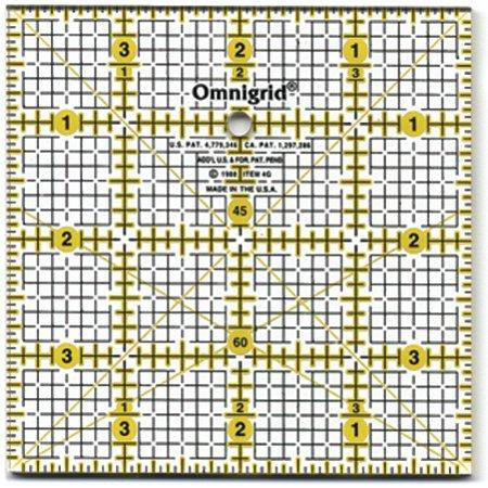 """Omnigrid Quilter's Square-4""""X4"""" - image 1 of 1"""
