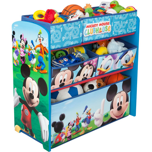 Paw Patrol Toy Organizer Bin Cubby Kids Child Storage Box: Disney Mickey Mouse Bedroom Set With BONUS Toy Organizer