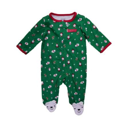 Carters Infant Boys My First Christmas Polar Bear Sleeper Sleep & Play