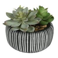 Better Homes & Gardens Black Stone Faux Succulent