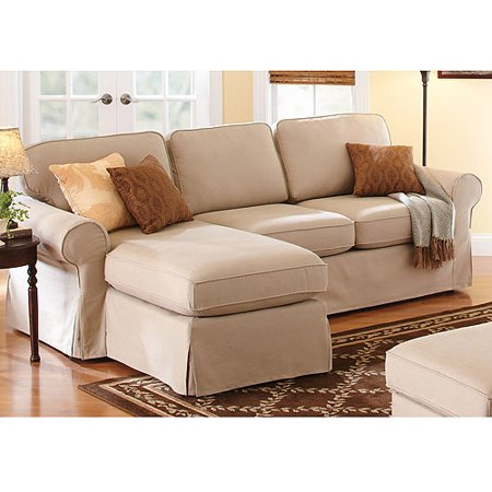 Better homes and gardens slip cover chaise sectional for Sectional sofas at walmart