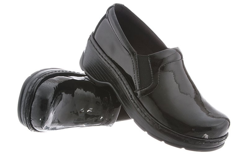 Klogs Naples Mens Womens Clogs Black Patent by