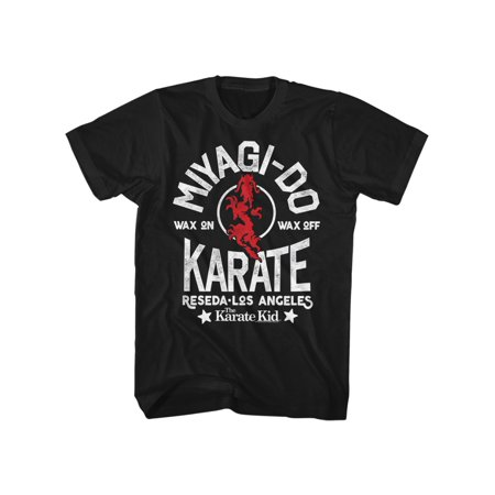 Karate Kid 1980's n Martial Arts Movie Miyagi Do Reseda Adult T-Shirt (1980's Costumes For Kids)