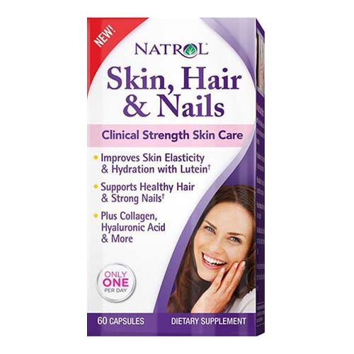 Natrol Skin, Hair And Nails Strength Skin Care Capsules, 60 Ea, 6 Pack