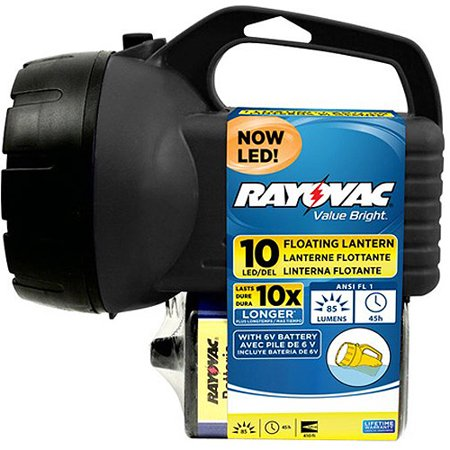 Rayovac 10 LED 6V Floating Lantern, EFL6V10LED-BA. - Battery Operated Lantern