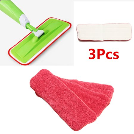3pcs Microfiber Mop Pads Washable Spray Mop Pad Replacement Mop Head Household Dust Cleaning Tools (Mop not Included)