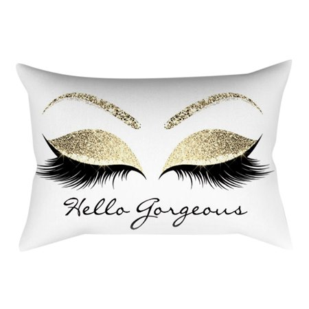 Eyelash Out Soft Velvet Cushion Cover 30x50cm Marble Pillow (Friends Soft Pillow)