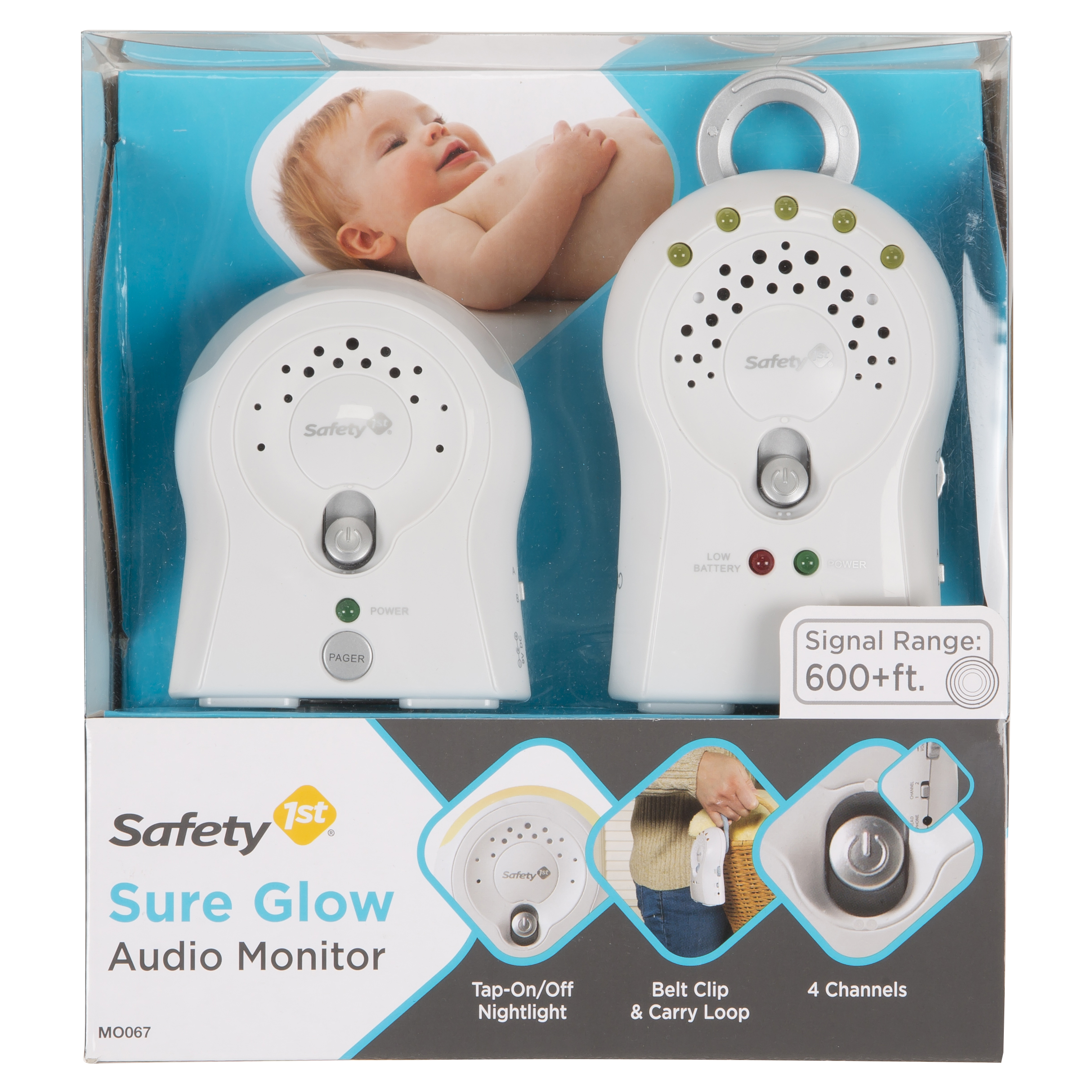 Safety 1 Sure Glow Audio Monitor, White