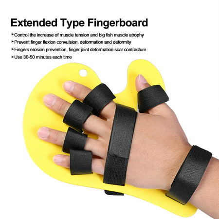 TOPINCN Hand Training Support,Fingerboard,2 Colors Finger Orthotics Extended Type Fingerboard Stroke Hand Splint Training Support