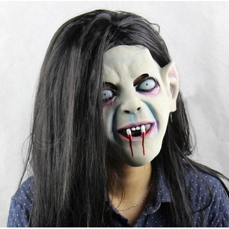 Latex Sadako Vampire Ghost Scary Mask Cosplay Horror Fancy Dress Party Costume Prop for $<!---->