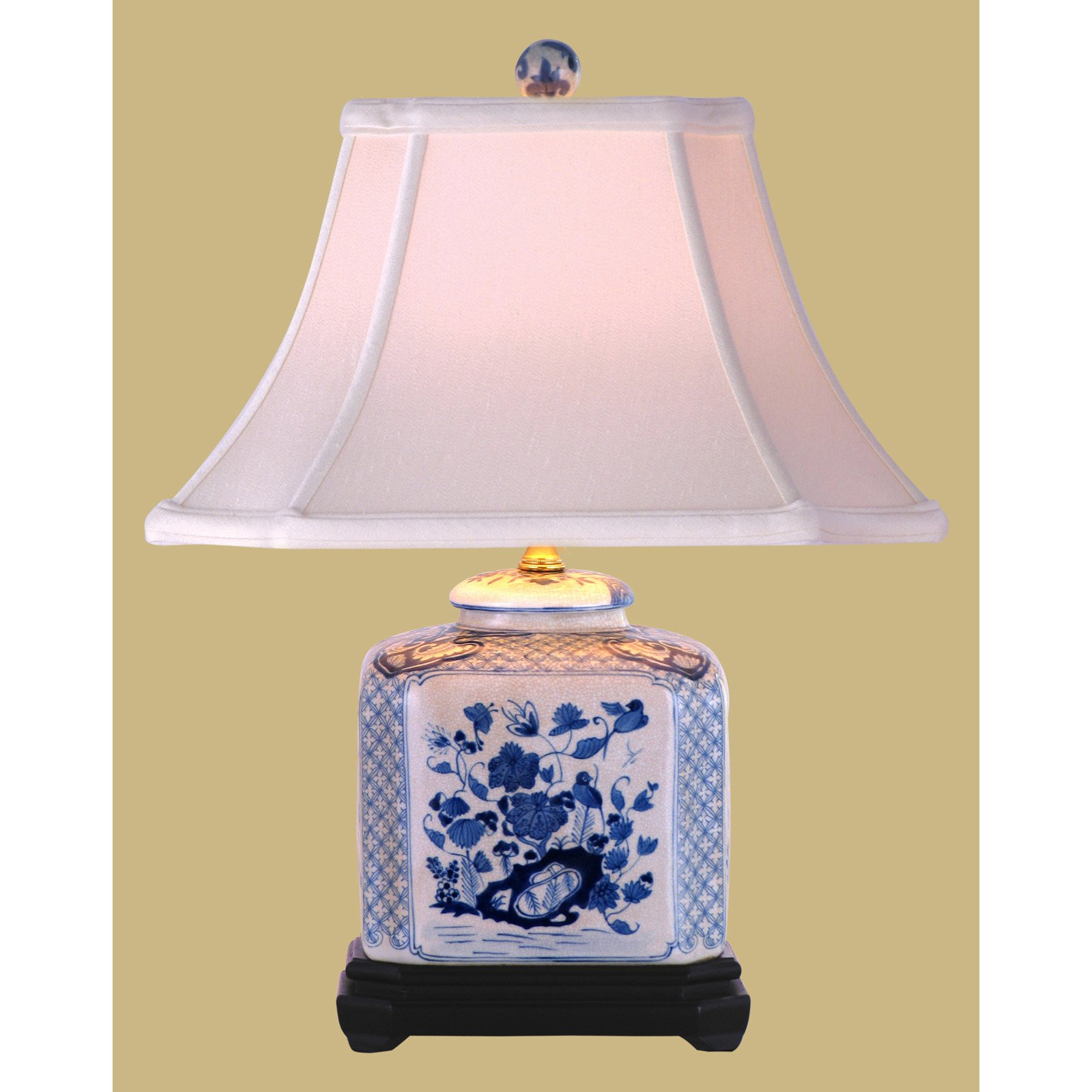 East Enterprises LPDBWN087A Jar Table Lamp - Blue and White