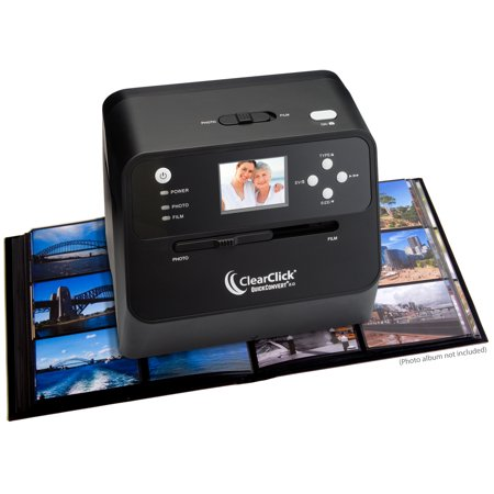 ClearClick 14 MP QuickConvert 2.0 Photo, Slide, and Negative Scanner - Scan 4x6 Photos & 35mm, 110, 126 Film ()